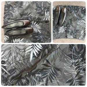 Hawaiian Print Beach Mini  Skirt A- line New